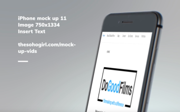 DoGoodFilms responsive website (mobile)