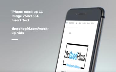 DoGoodFilms responsive website (mobile)