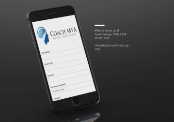 Coach MVA responsive website (mobile phone)