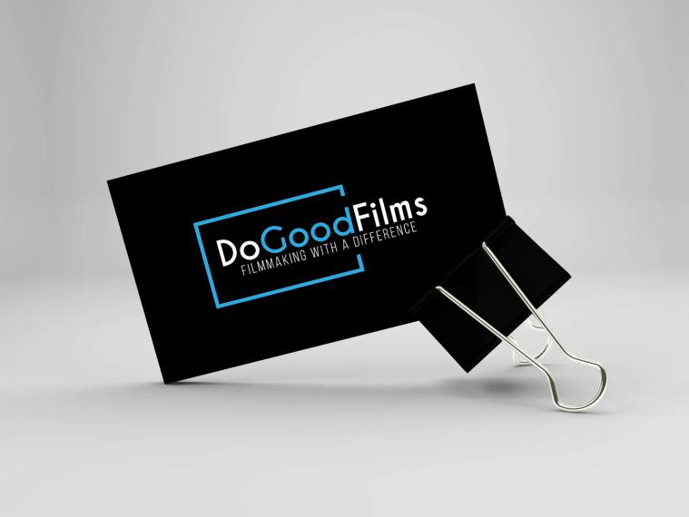 dogoodfilms business card black