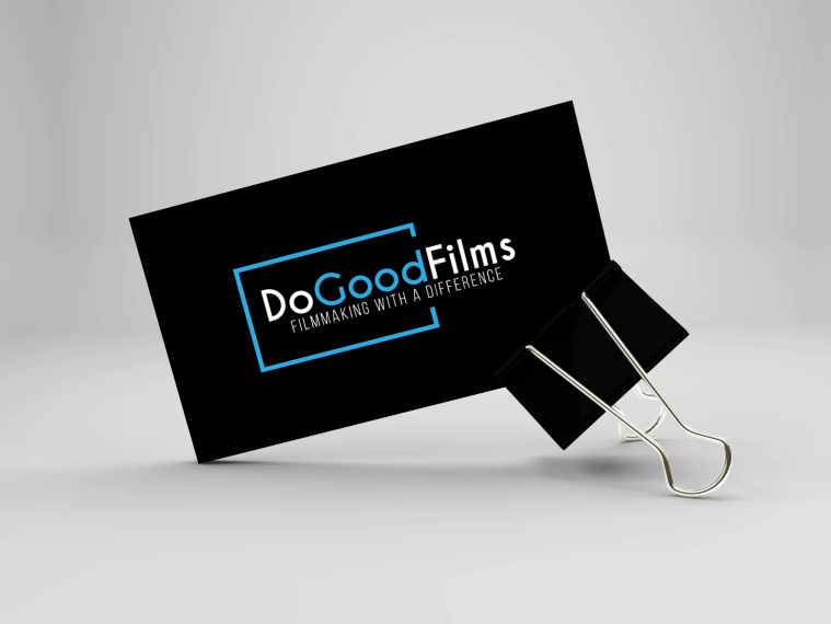 dogoodfilms business card black