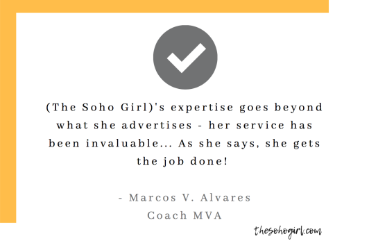 Coach MVA testimonial