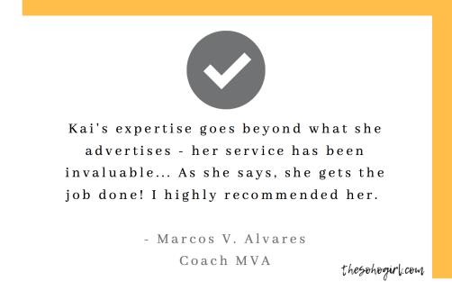 Coach MVA's testimonial