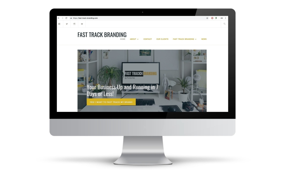 Fast Track Branding website desktop